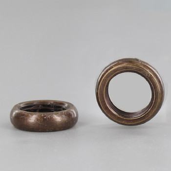 1/8-27ips. Antique Brass Finish Beaded Nut