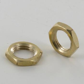 1/8-27ips. Unfinished Brass Hex Head Nut