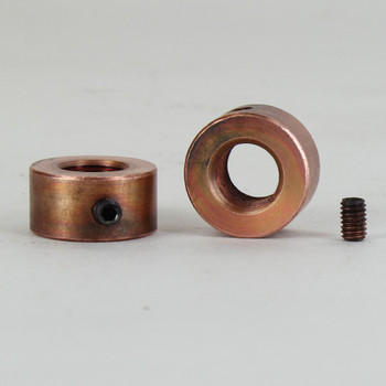 3/4 in. W. x 3/8 in. H. - 1/8-27ips Female Threaded smooth locknut with set-screw unfinished copper.