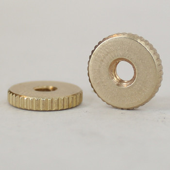 8/32 Threaded  - 1/2in Diameter X 3/32in Thick Round Knurled Nut.