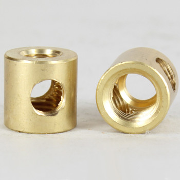 1/4ips X 1/8ips Threaded - 3/4in Diameter 4-Way Straight Armback - Unfinished Brass