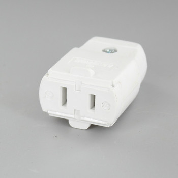 White - Polarized Light Duty Clamp-Tight Connector Outlet