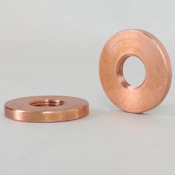 1in Diameter - 1/8ips Threaded Round Copper LockNut.