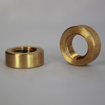 1/8ips - 5/8in Diameter X 15/64in Thick Smooth Plain Brass Round Nut