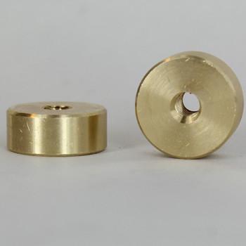 8/32 Threaded - 5/8in Diameter X 1/4in Thick Smooth Plain Brass Round Nut