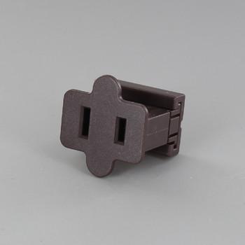 Brown - SPT-1 Polarized Female Gilbert Plug Style Slide Together End Outlet