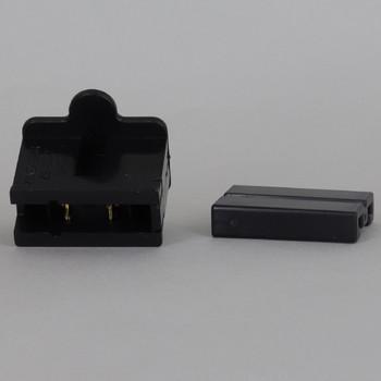 Black - SPT-2 Polarized Female Gilbert Plug Style Slide Together End Outlet