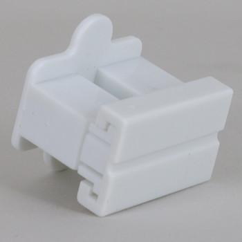 White - SPT-1 Polarized Female Gilbert Plug Style Slide Together End Outlet