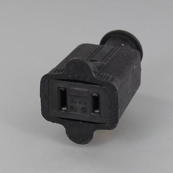 Black - Standard Grade 2 Wire Rubber Non Grounding Connector