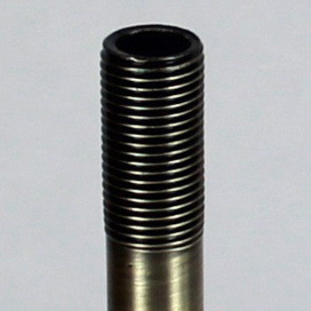 12in. Antique Brass Finish Pipe with 1/8ips. Thread