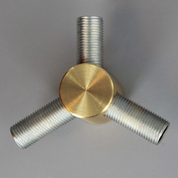 1/8ips Threaded - 1in X 3/4in Y Armback - Unfinished Brass