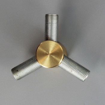 1/4ips X 1/8ips Threaded - 3/4in Diameter Y Fitting Straight Armback - Unfinished Brass