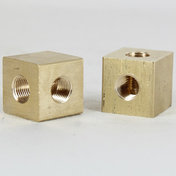 1/8ips Threaded - Square 90 Degree Armback - Unfinished Brass