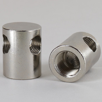1/4ips X 1/8ips Threaded - 3/4in Diameter Y Fitting Straight Armback - Nickel Plated