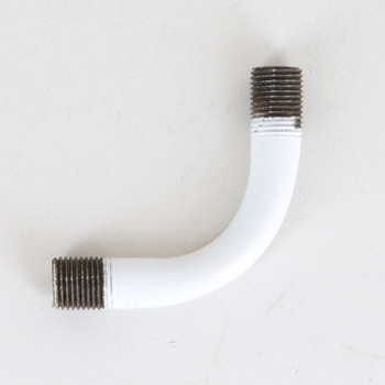 1/8ips Male Threaded 1-3/4in Long 90 Degree Bent Arm - White Finish
