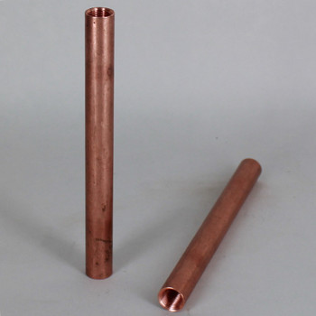 10in. Unfinished Copper Pipe with 1/8ips. Female Threaded Ends