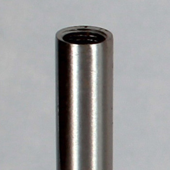 10in. Satin/Brushed Nickel Finish Steel Pipe with 1/8ips. Female Thread