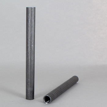 10in X 1/8ips Female Threaded Unfinished Steel Reeded Pipe Threaded on Both Ends.