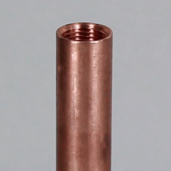 12in. Unfinished Copper Pipe with 1/8ips. Female Threaded Ends