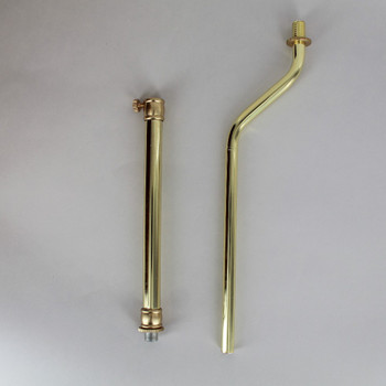 10 to 15in. Adjustable Brass Plated Finish 1/8ips. Figurine Pipe with 2in. Offset