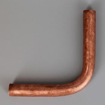 1/8ips Female Threaded 3in Long 90 Degree Brass Bent Arm - Copper Finish