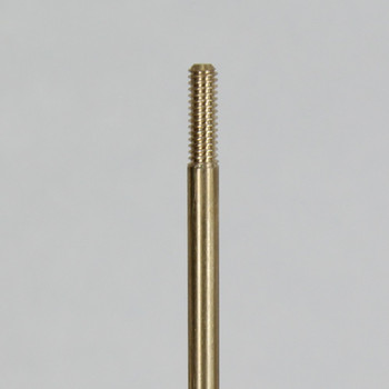24 in. Long -  8/32 Threaded Brass Rod with 1/2in Long Thread on Both Ends.