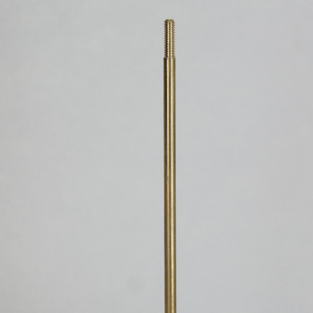 10 in. Long -  8/32 Threaded Brass Rod with 1/2in Long Thread on Both Ends.