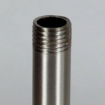10in Long X 1/4ips (1/2in OD) Male Threaded Brushed/Satin Nickel Finish Steel Pipe