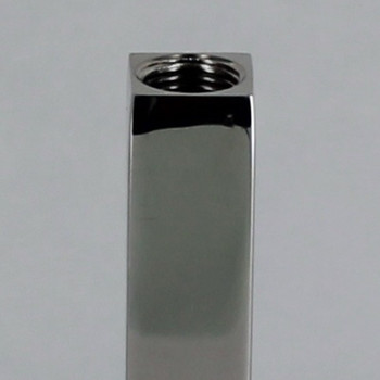 12in. Polished Nickel Finish Square Pipe with 1/8ips. Female Thread