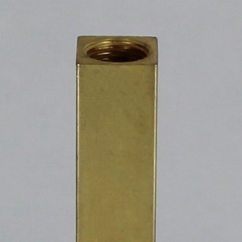 6in. Unfinished Brass Square Pipe with 1/8ips. Female Thread
