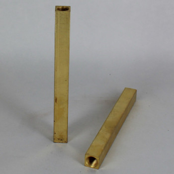 10in. Unfinished Brass Square Pipe with 1/8ips. Female Thread