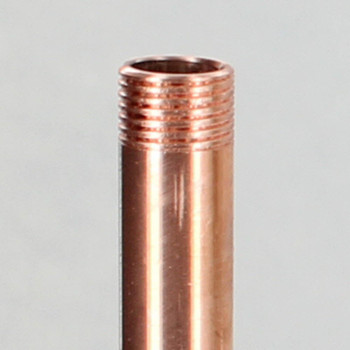 12in  X 1/8ips Threaded Unfinished Copper Pipe with 1/4in Long Threaded Ends.