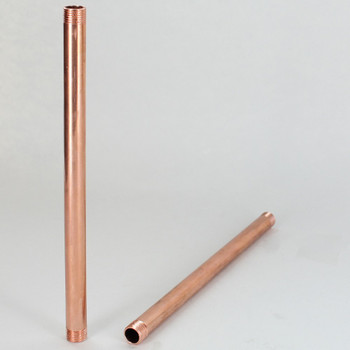 10in  X 1/8ips Threaded Unfinished Copper Pipe with 1/4in Long Threaded Ends.