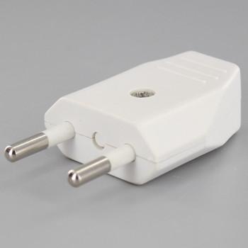 White - Non-Polarized 2-Pin European Europlug