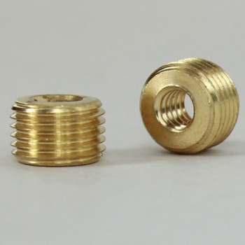 10/24 Female X 1/8ips. Male Thread Unfinished Brass Reducer without Shoulder