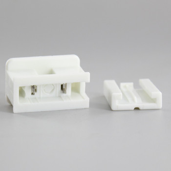 White - Polarized, Non-grounding, Male Gilbert / Slide Together Plug For Use With 18/2 SPT-2 Wire