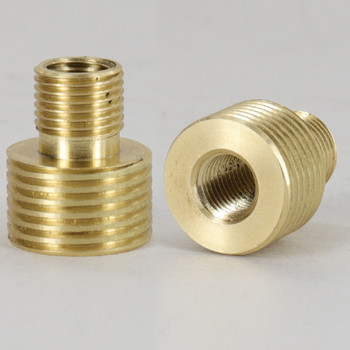 1/8ips Male X 3/8ips Male Threaded Brass Thread Adapter - Unfinished Brass