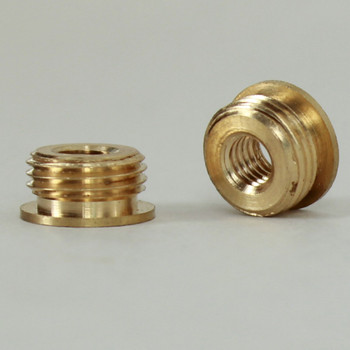 10/32 Female X 1/8ips. Male Thread Unfinished Brass Reducer with Shoulder