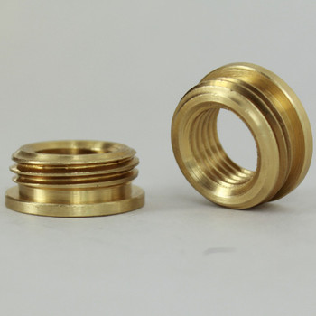 1/4ips. Female X 1/2ips. Male Thread Unfinished Brass Reducer with Shoulder