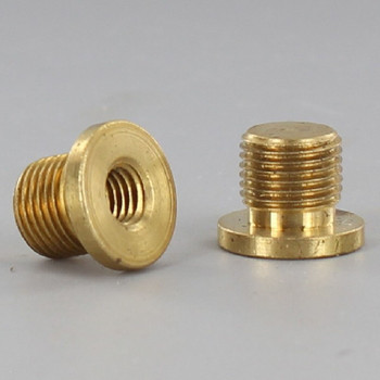 1/4-27 Female X 1/8ips. Male Thread Unfinished Brass Shade Rest