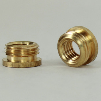 1/4-27 Female X 1/8ips. Male Thread Unfinished Brass Reducer with Shoulder