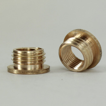 1/8ips. Female X 1/4ips. Male Thread Unfinished Brass Reducer with Shoulder