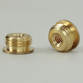 8/32 Female X 1/8ips. Male Thread Unfinished Brass Reducer with Shoulder