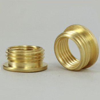 1/4ips. Female X 3/8ips. Male Thread Unfinished Brass Reducer with Shoulder