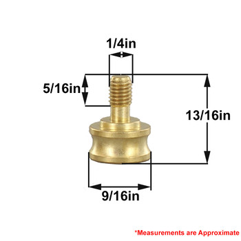 1/8ips. Female X 1/4-27 Male Thread Unfinished Brass Shade Rest