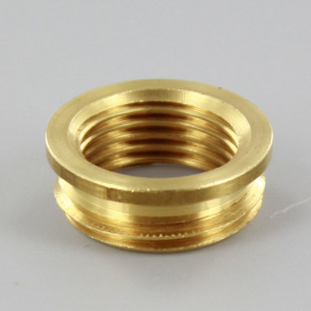 3/8ips. Female X 1/2ips. Male Thread Unfinished Brass Reducer with Shoulder