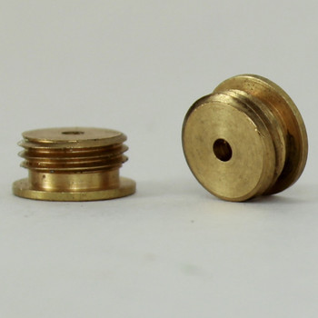 4/36 Female X 1/8ips. Male Thread Unfinished Brass Reducer with Shoulder