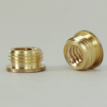 1/4-20 UNC Female Threaded X 1/8ips. Male Threaded Unfinished Brass Reducer with Shoulder