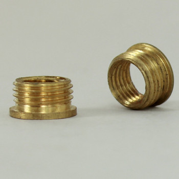5/16-27 UNS X 1/8ips Reducer with Shoulder - Unfinished Brass
