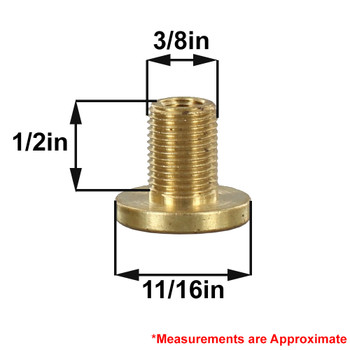 1/4-27 Female X 1/8ips Male Shade Rest - Unfinished Brass